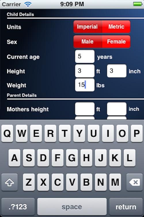 Adult Height Calculator