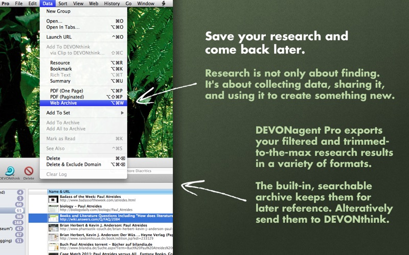 DEVONagent Screenshot
