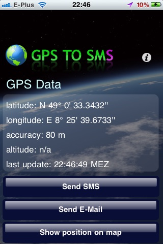 GPS to SMS screenshot-0