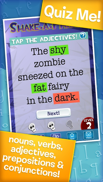 Shake-a-Phrase: Fun With Words and Sentences screenshot-3