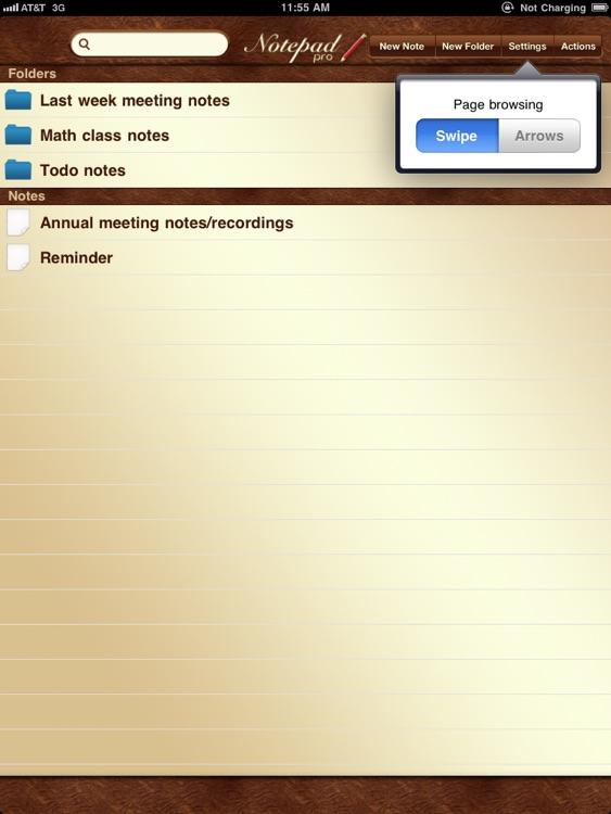 NotePad Pro for iPad