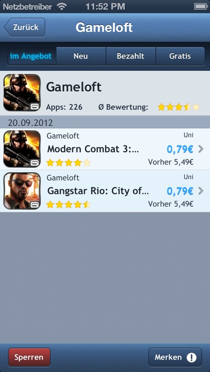AppTicker Push screenshot-0
