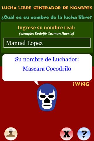 点击获取Lucha Libre - Libre - Generador de Nombres