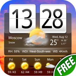 Free Live Weather Clock Pro