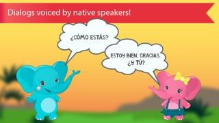 西班牙的孩子與本尼。顏色和數字,問候和家庭,食物,水果,動物和記憶單詞免費的讀音:通過識字學習西班牙語屏幕截圖4