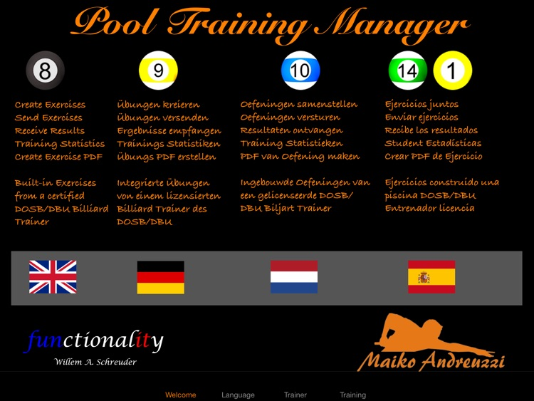 The Pool Training Manager