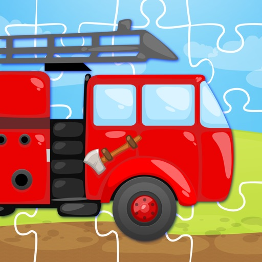 Trucks and Things That Go Jigsaw Puzzle - Preschool and Kindergarten Educational Cars and Vehicles Learning Shape Puzzle Adventure Game for Toddler Kids Explorers
