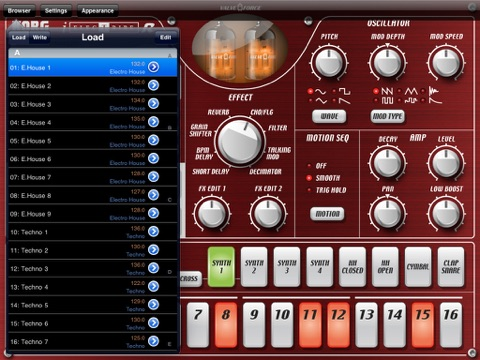 Screenshot #6 pour KORG iELECTRIBE for iPad