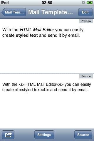 HTML Mail Editor screenshot-3