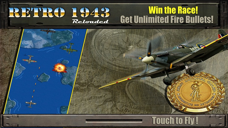 Retro 1943 Reloaded PRO - Normandy Ace Spitfire Flight Commander