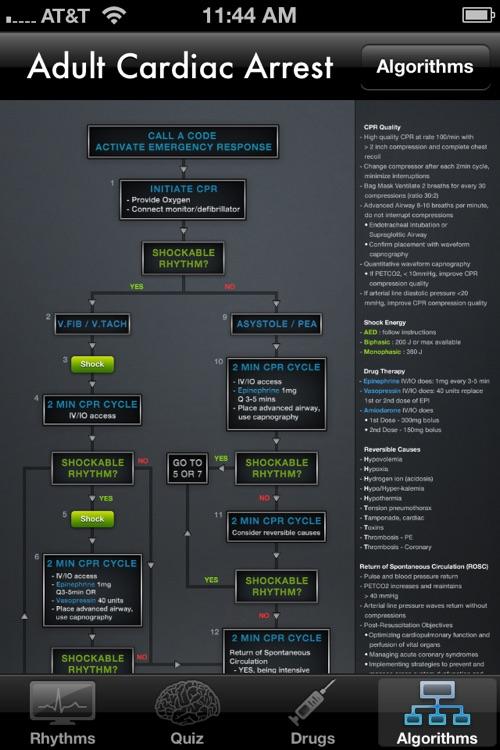 ACLS Rhythms - Resuscitation Guidelines & ECG Advisor screenshot-3