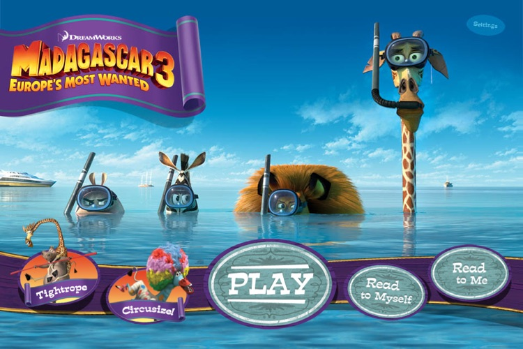 Madagascar 3 Movie Storybook Deluxe