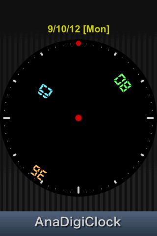 AnaDigiClock screenshot one
