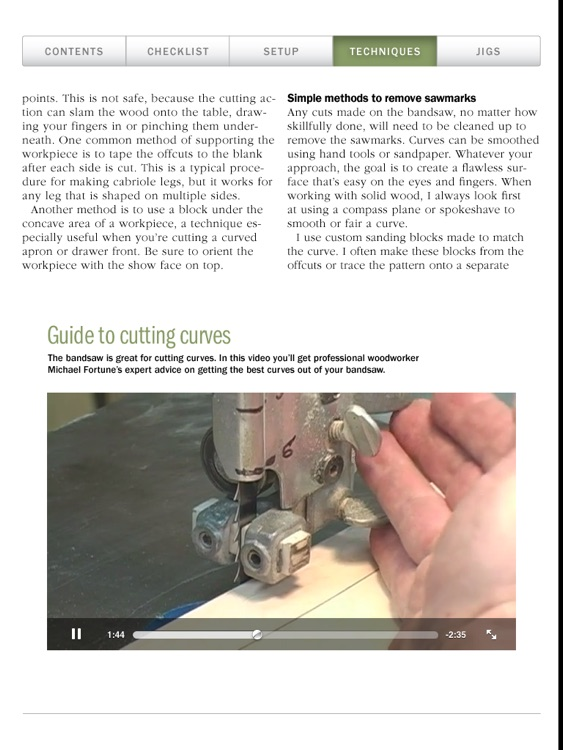 Bandsaw Basics from Fine Woodworking screenshot-3