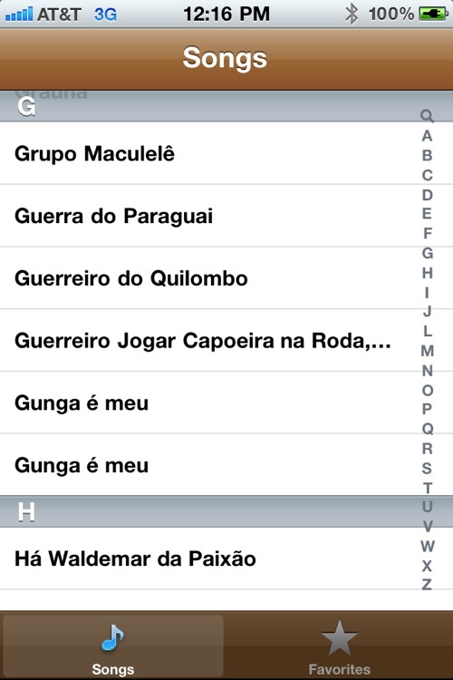 Capoeira Songs