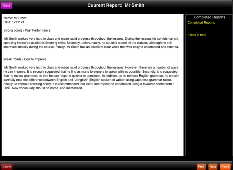 Student Report Writer screenshot-1