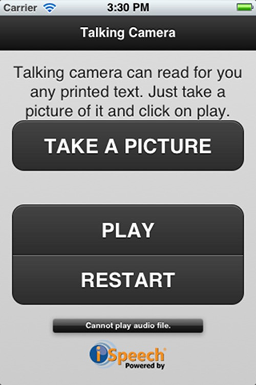 Talking Camera - for visually impaired/blind