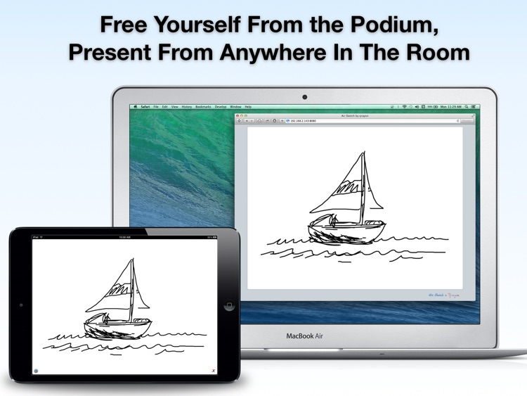 Air Sketch Free: Wireless Smart Whiteboard for Classrooms, Presentations, Meetings, and Collaboration screenshot-3