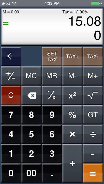 EZ-Digits HD Calculator screenshot-1