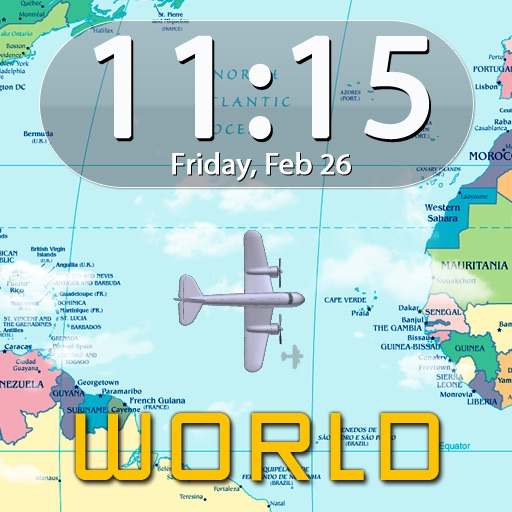 Clockscapes Around The World - Animated Clock Display icon