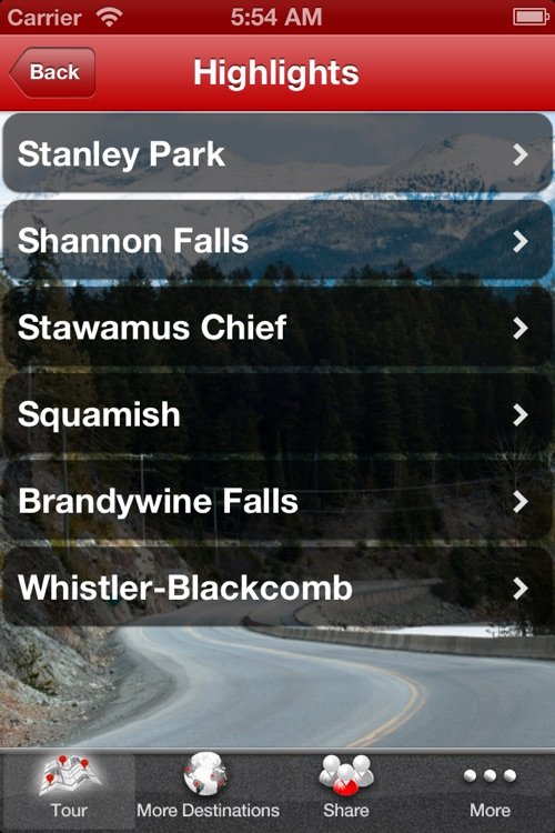 Vancouver Whistler Sea to Sky GPS Driving Tour