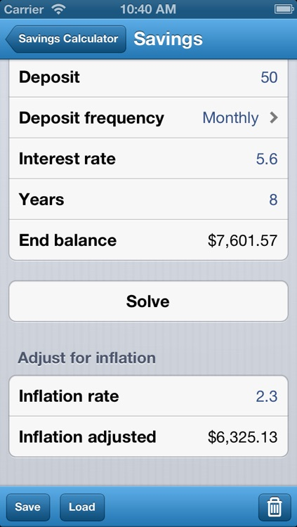 Savings Calculator - Retirement, College, Home, Car, & Vacation Goals screenshot-1