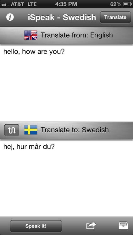 iSpeak Swedish