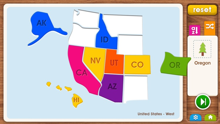 Kids Maps - U.S. Map Puzzle Game by Media Mechanic