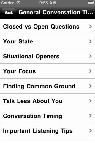 Conversation Starters iApp