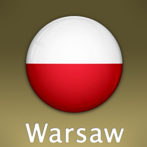 Warsaw Travel Map (Poland)