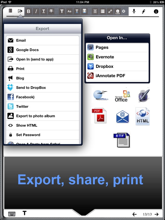 Office Note - Word processor with handwriting & Editor for Google Docs screenshot-3