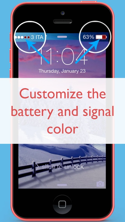 Color bar at the top (customize and change wallpapers for iOS 7)