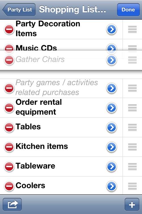 Party Planning List screenshot-3