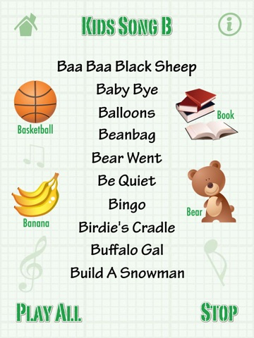 ... Screenshot  2 for Kids Song B for iPad - Child Songs Lyrics   English  Words ... 5c6084bffbb