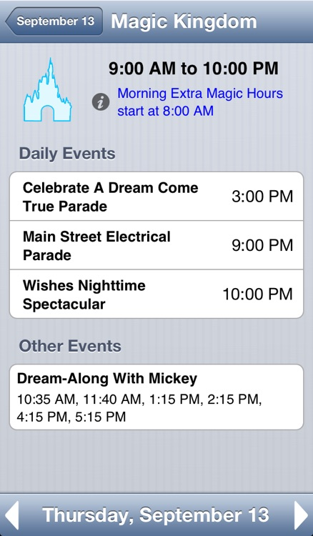 Walt Disney World Park Hours