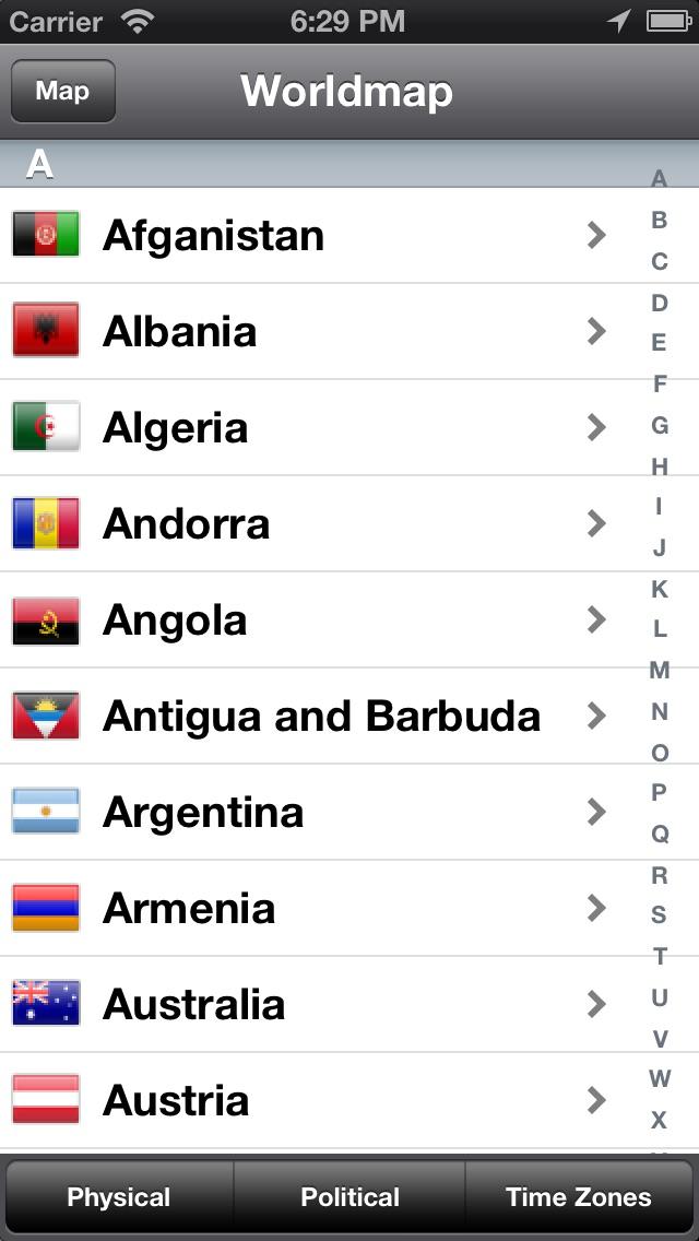 World Map Pro Screenshot 1