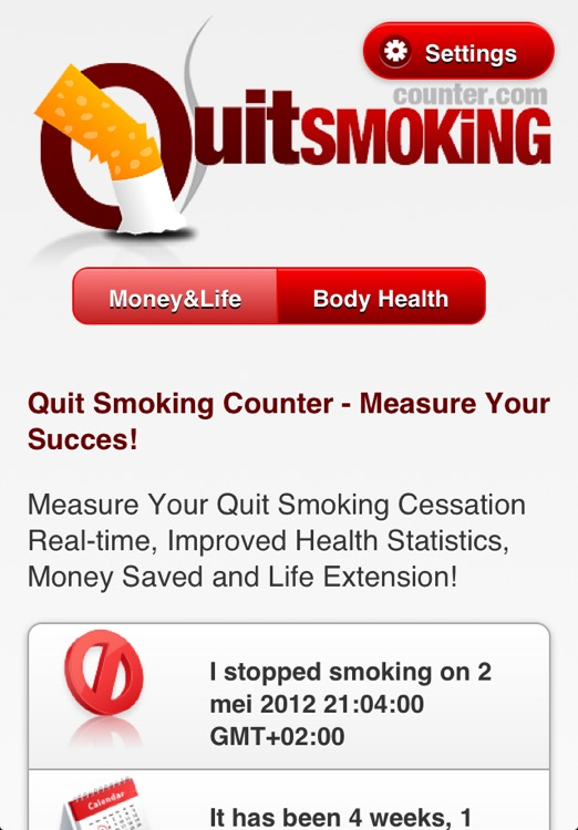 iQuit - Stop Smoking Counter