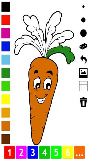 Aktif Buku Mewarna Buah Buahan Dan Sayur Sayuran Untuk Kanak Kanak