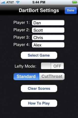 DartBort Scorer screenshot1