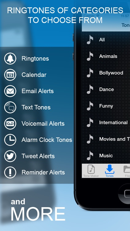 Ringtones iOS 7 Edition.