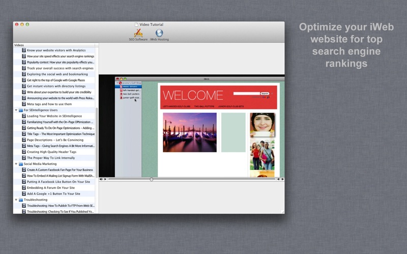SEO Video Tutorial for iWeb | App Price Drops