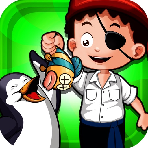 A Pirate Feeds A Penguin A Fish Free Game