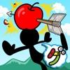 リンゴ撃ち