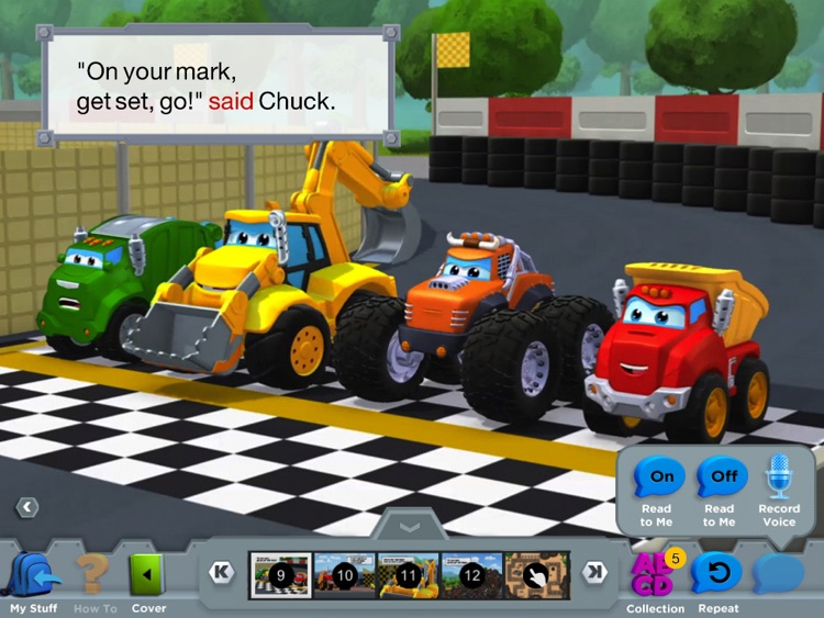Chuck & Friends: Ruckus Reader screenshot-3