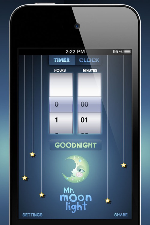 Mr. MoonLight : Kids Visual Alarm Clock and Nightlight for Sleep Training screenshot-3