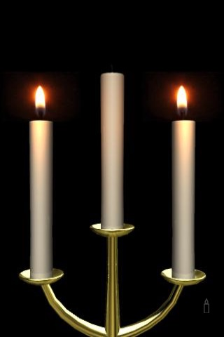 Flame of candle