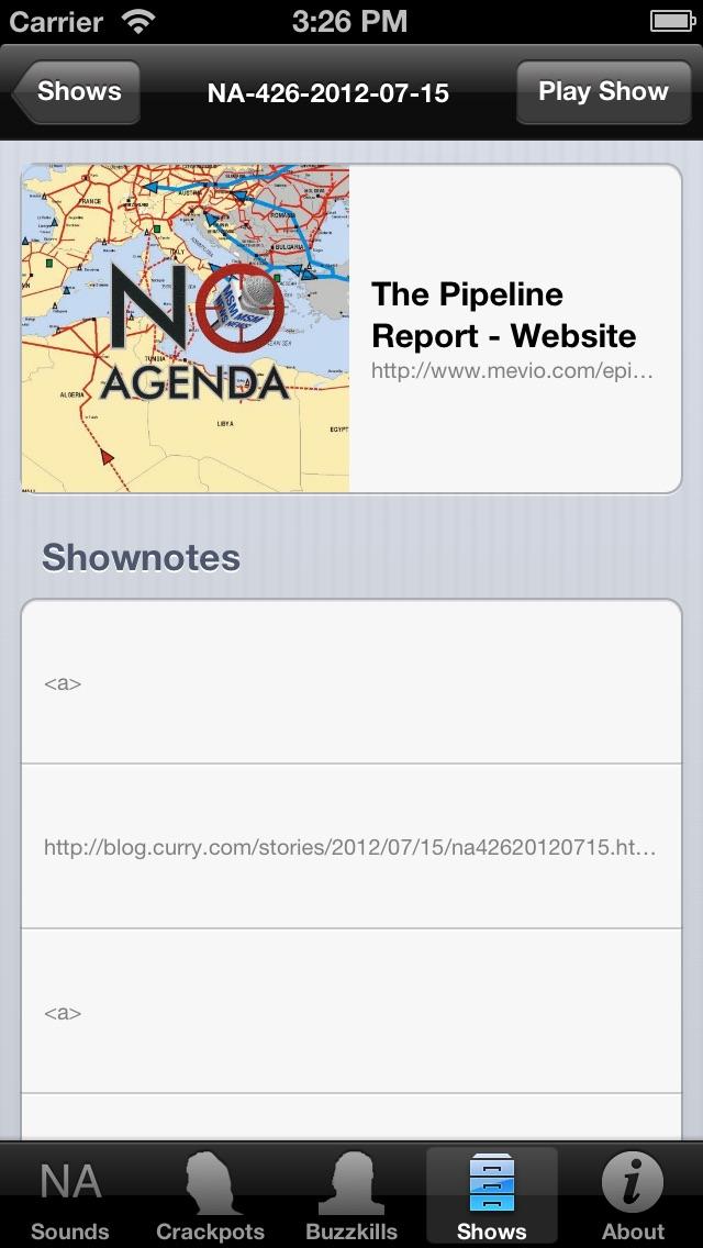 Pocket No Agenda review screenshots