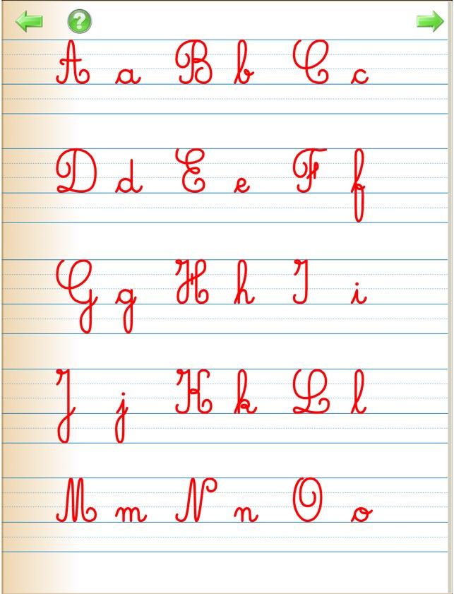 Alphabet cursif pour apprendre crire les lettres - Pot en 3 lettres ...