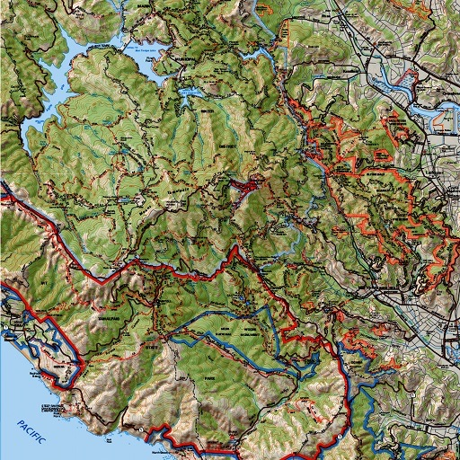 Mt Tam Trail Map