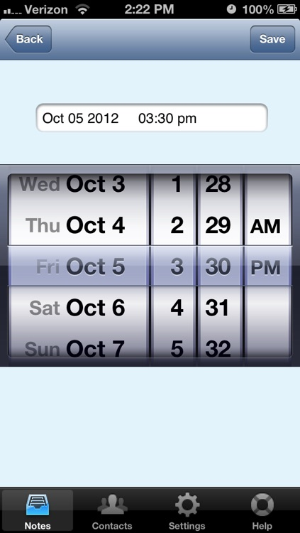 OnQ: Memos with Reminders